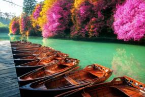 корабли, лодки,  шлюпки, заводь, мостки