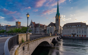 города, цюрих , швейцария, мост