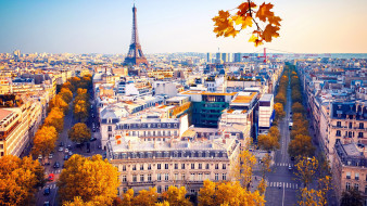 города, париж , франция, панорама