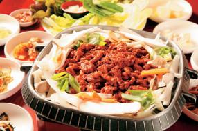 еда, мясные блюда, корейская, кухня, мясо