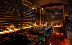 интерьер, кафе,  рестораны,  отели, винотека, столы, бокалы