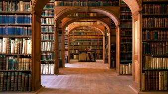 книги, библиотека, полки