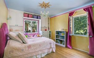 интерьер, спальня, детская, игрушки