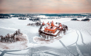 города, тракайский замок , литва, trakai, castle