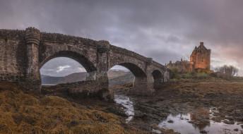 города, замок эйлен-донан , шотландия, замок, эйлен-донан
