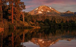 природа, реки, озера, горы, река, отражение
