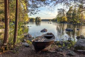 корабли, лодки,  шлюпки, река, лодка, камни