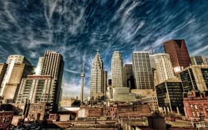 города, торонто , канада, небоскребы