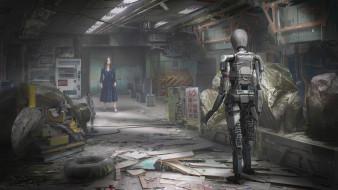 фэнтези, роботы,  киборги,  механизмы, robot, girl, yujin, choo