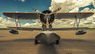 grumman j2f duck, авиация, самолёты амфибии, летательный, аппарат, облака, grumman, j2f, duck, 1936, американский, однодвигательный, самолет, амфибия