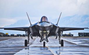 f-35 lightning ii, авиация, боевые самолёты, lockheed, martin, lightning, аэродром, истребитель, бомбардировщик