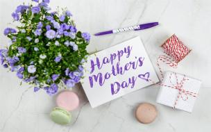 праздничные, день матери, макаруны, подарок, надпись