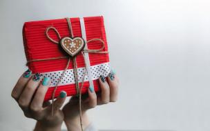 праздничные, подарки и коробочки, подарок, сердечко, бант