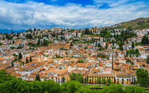 города, гранада , испания, панорама