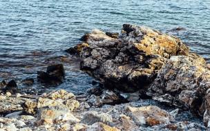 природа, побережье, вода, скалы, камни