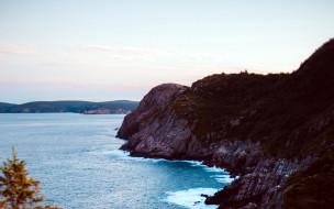 природа, побережье, вода, скалы