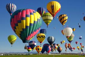воздушные шары, авиация, воздушные шары дирижабли, воздушные, шары, полёт, небо, поле