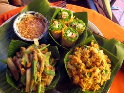 еда, салаты,  закуски, камбоджийская, кухня, закуски
