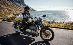2021 bmw r18, мотоциклы, bmw, 2021, r18, круйзер, черный, мотоцикл, новый, экстерьер, немецкие, тяжелый, трасса, побережье