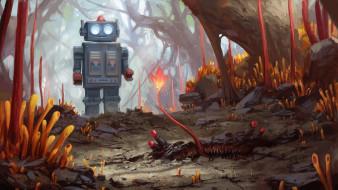 фэнтези, роботы,  киборги,  механизмы, retro, robot, stefan, koidl