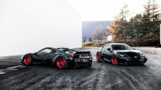 автомобили, разные вместе, ferrari, 458, italia, lexus, rc, f