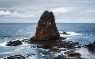 природа, побережье, скала, камни, море
