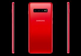samsung cardinal red galaxy s10, бренды, samsung, galaxy, s10, интеллектуальная, камера, обратная, беспроводная, зарядка, ai-оптимизация, работа, до, 24, часов, 5, объективов, powershare