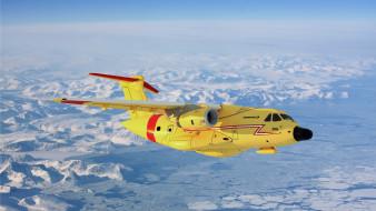 Embraer KC-390 обои для рабочего стола 1920x1080 embraer kc-390, авиация, грузовые самолёты, реактивный, двухмоторный, транспортный, самолет, желтый