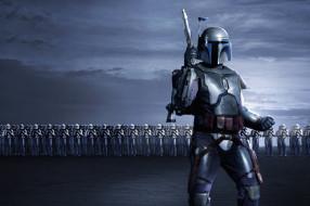 кино фильмы, star wars,  episode ii - attack of the clones, jango, fett, star, wars