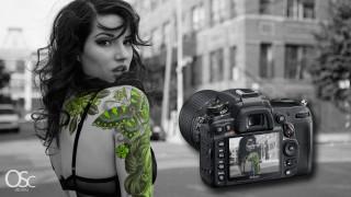 бренды, nikon, профессиональная, фотокамера, девушка, татуировки