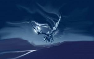 фэнтези, драконы, дракон, полет