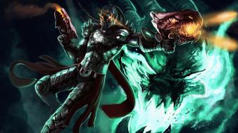 видео игры, league of legends, мужчина, фон, униформа, маска, оружие