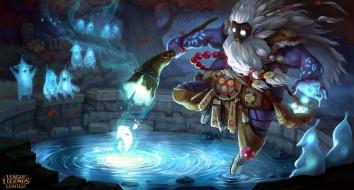 видео игры, league of legends, колдун, существа, магия, пруд