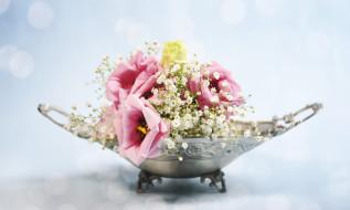 цветы, разные вместе, эустома