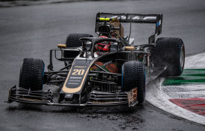 haas, formula, 1, rain