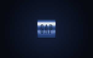 gap inc, бренды, - другое, логотип, gap, металлическая, эмблема, марка, одежды, синий, углеродная, текстура, американская, компания