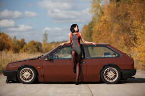 ваз- 2108, автомобили, -авто с девушками, ваз-, 2108, автомобиль, дорога, девушка, лада, самара, брюнетка