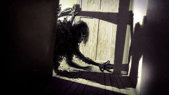 фэнтези, нежить, существо, фон, дверь