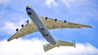 ан-225 мрия, авиация, грузовые самолёты, грузовой, антонов, самолет, вид, снизу