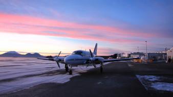 cessna 402, авиация, пассажирские самолёты, легкий, двухмоторный, аэродром, cessna, 402