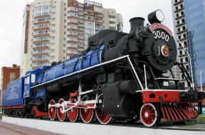 Паровоз ФД 21- 3000 обои для рабочего стола 2400x1588 паровоз фд 21- 3000, техника, паровозы, паровоз, фд, 21-, 3000, локомотив, здания, памятник