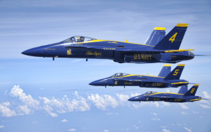 boeing fa-18 hornet, авиация, боевые самолёты, cиние, ангелы, эскадрилья, вмс, сша, аэробатическая, команда, boeing, fa18, hornet, f18, американские, истребители