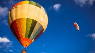 авиация, воздушные шары дирижабли, воздушный, шар, мотодельтаплан, небо, полет