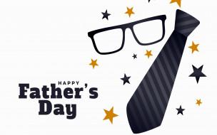 праздничные, день отца, галстук, очки, надпись