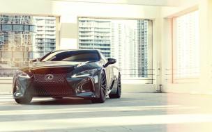 2020 vossen lexus lc500 black edition, автомобили, lexus, 2020, lc500, black, edition, vossen, вид, спереди, экстерьер, черный, спортивное, купе, тюнинг, японские