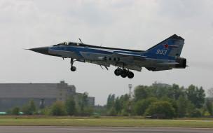 миг 25, авиация, боевые самолёты, истребитель, миг, аэродром, ударная