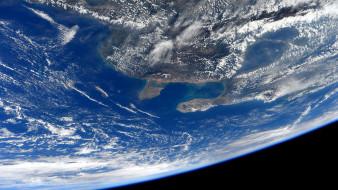 космос, земля, венесуэла, и, колумбия, из, космоса