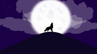 обои для рабочего стола 1920x1080 векторная графика, животные , animals, волков, волки, темноты, леса, хищник, оборотень, атмосфера, облака, луна, звезды