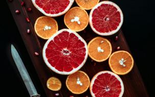еда, цитрусы, апельсин, грейпфрут