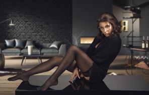 девушка в чёрном белье, девушки, - брюнетки,  шатенки, девушка, красивая, супер, секси, няша, нежная, классная, модница, лапочка, мадам